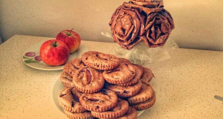 Maffinki z orzechami i śliwkami