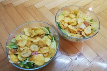 Sałatka paryska z pieczonymi ziemniakami